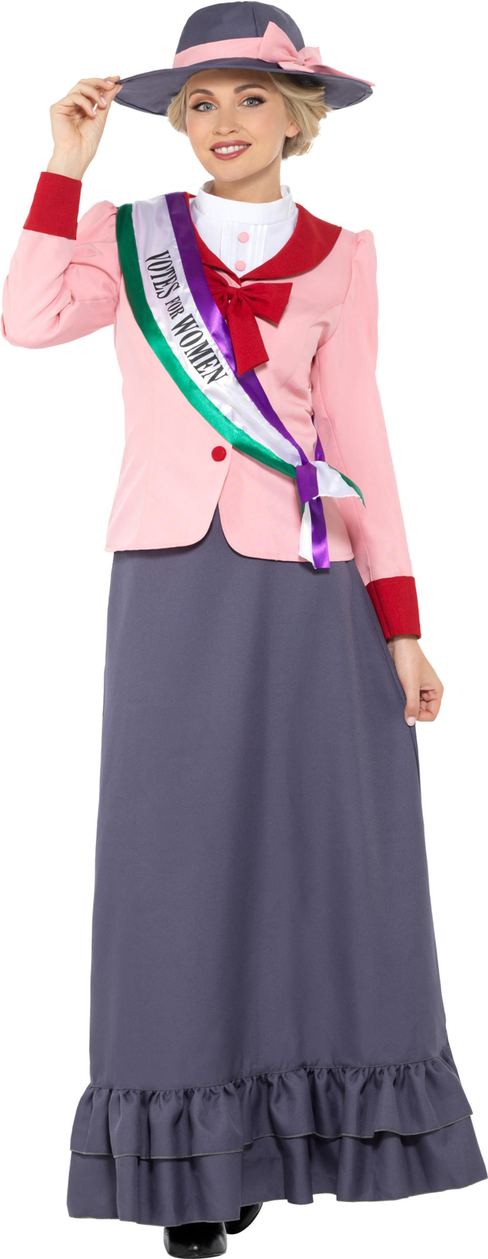Victorian Suffragette Ladies Fancy Dress Pankhurst Dickens Womens Adults Costume