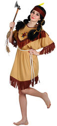 Native American Indian Ladies Fancy Dress Wild Western Adults Costume Outfit