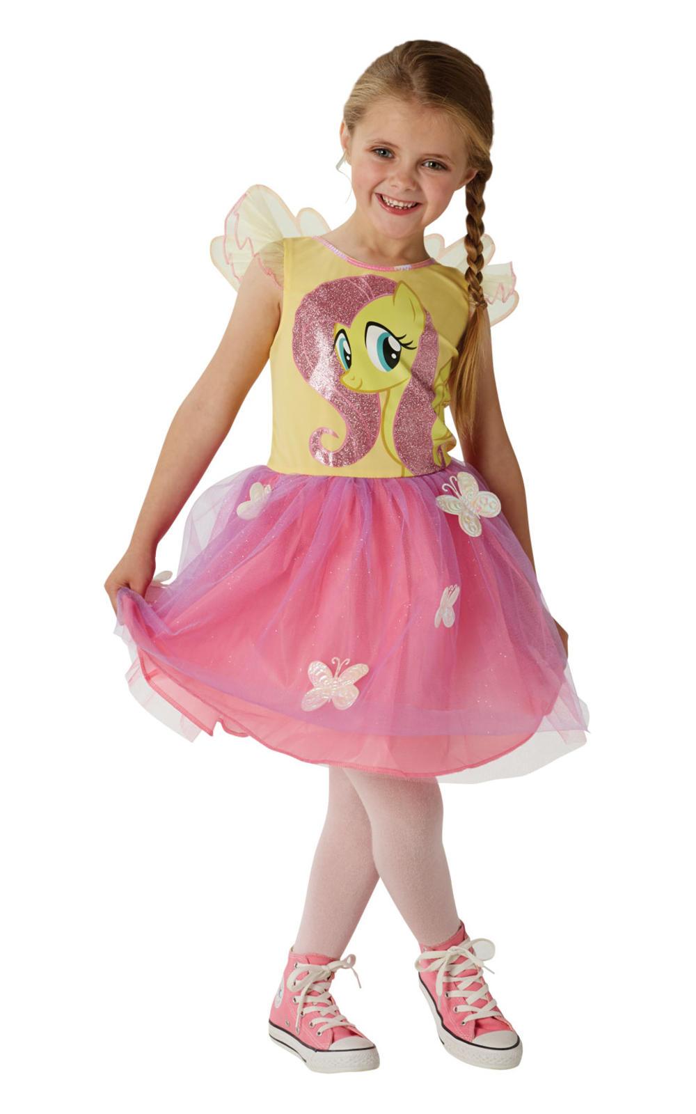 Fluttershy Girls My Little Pony Girls Fancy Dress Fairy Tale Childrens Costume