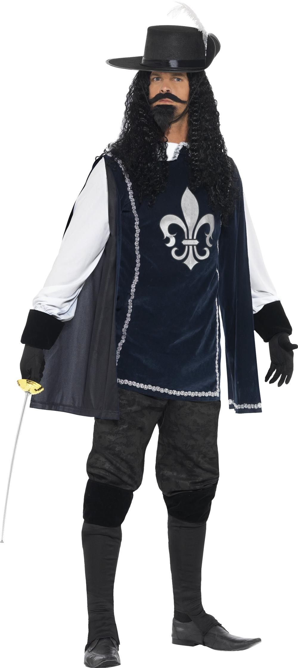 Musketeer Mens Fancy Dress Medieval Fairy Tale Book Day Week Adults Costume New