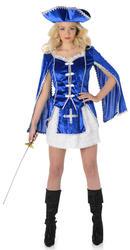 Musketeer Girl Ladies Fancy Dress Medieval Book Day Week Womens Adults Costume