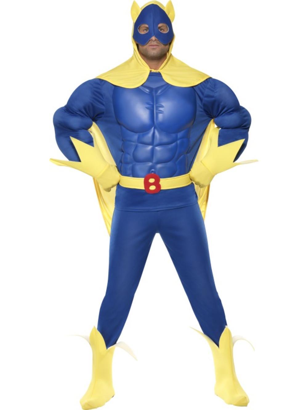 Muscle Chest Bananaman Costume