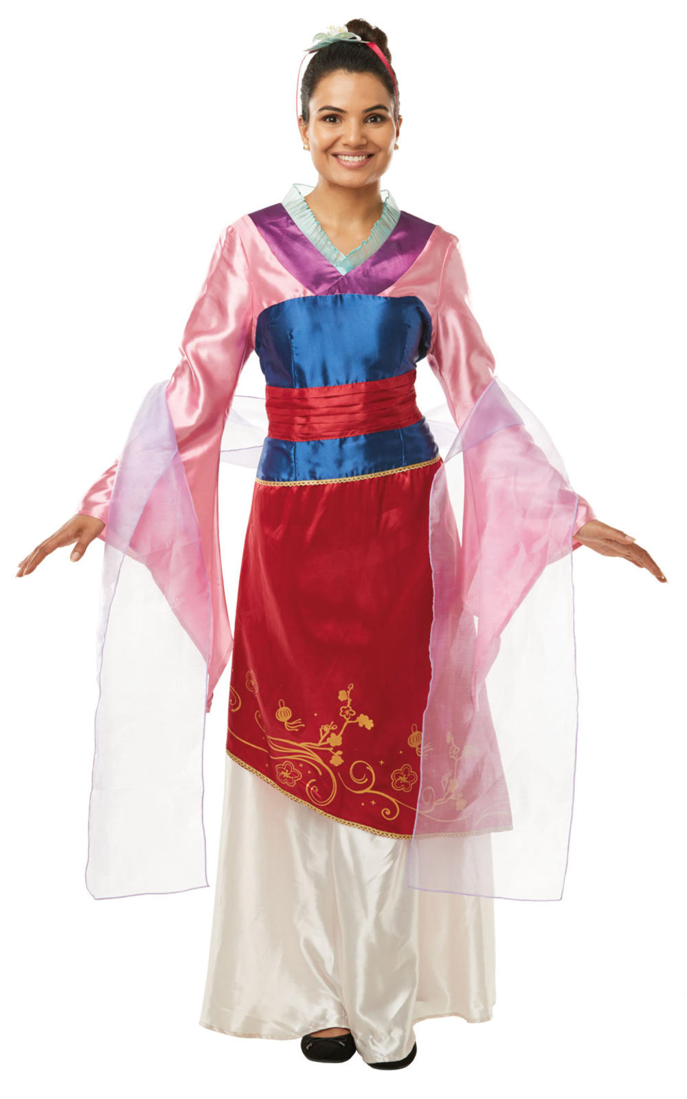 Mulan Ladies Fancy Dress Chinese Disney Princess Adult Fairy Tale Costume Outfit