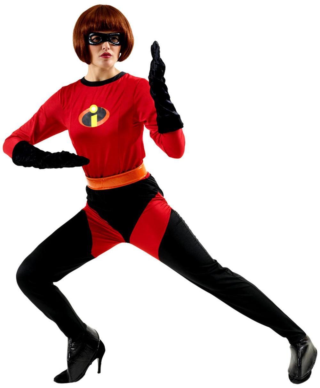 Mrs Incredible Ladies Fancy Dress Disney Superhero The Incredibles Adult Costume