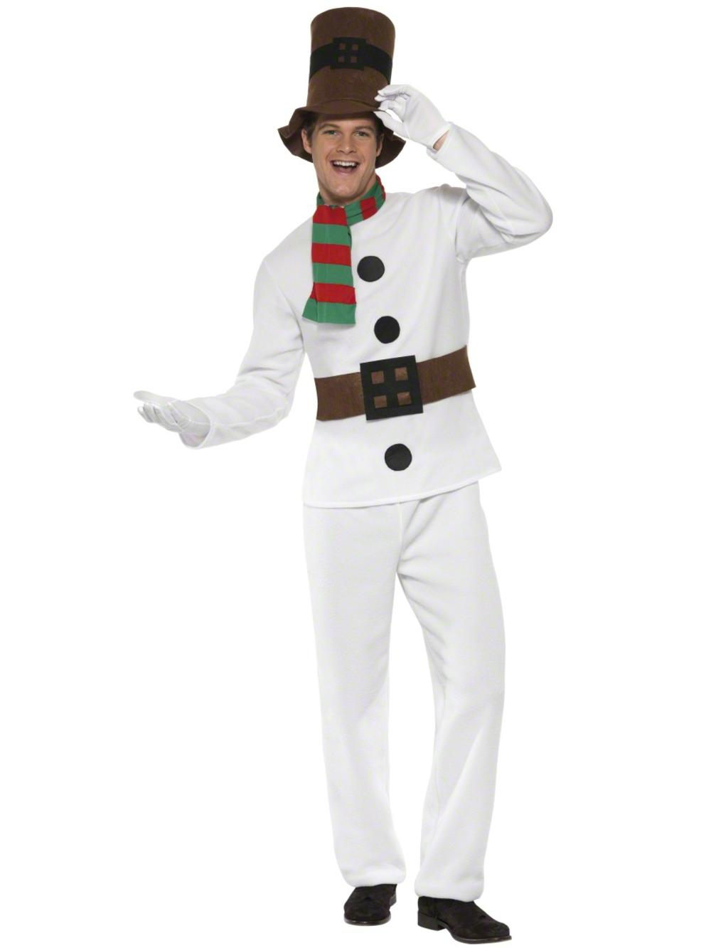 Mr Snowman Mens Fancy Dress Festive Christmas Novelty Adults Costume Outfit
