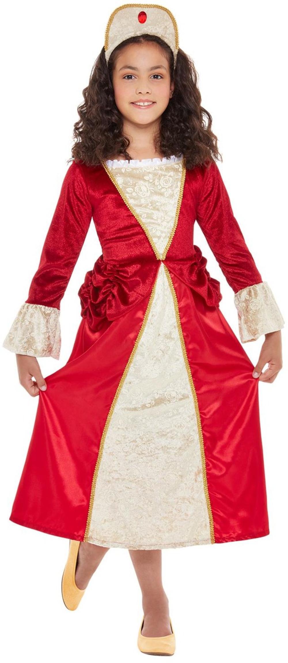 Tudor Princess Girls Fancy Dress Royal Medieval World Book Day Week Kids Costume