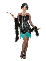 20s Peacock Flapper Ladies Fancy Dress 1920s Charleston Gatsby Adults Costume