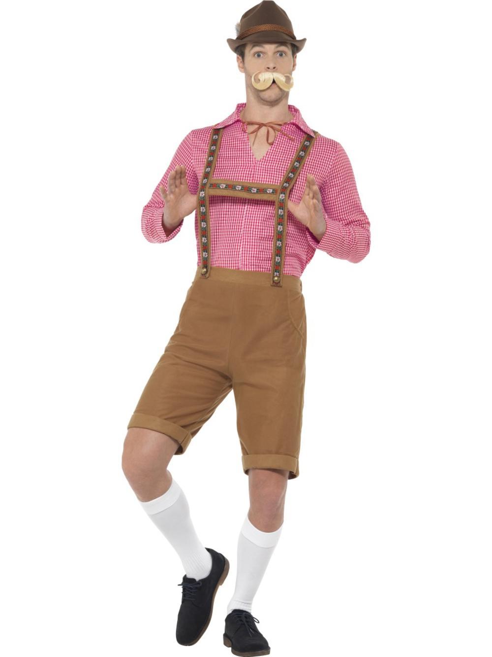 Mr Bavarian Mens Fancy Dress German Beer Oktoberfest Lederhosen Adults Costume