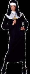 Nun Fancy Dress Ladies Religious Saints & Sinners Womens Adults Long Costume New