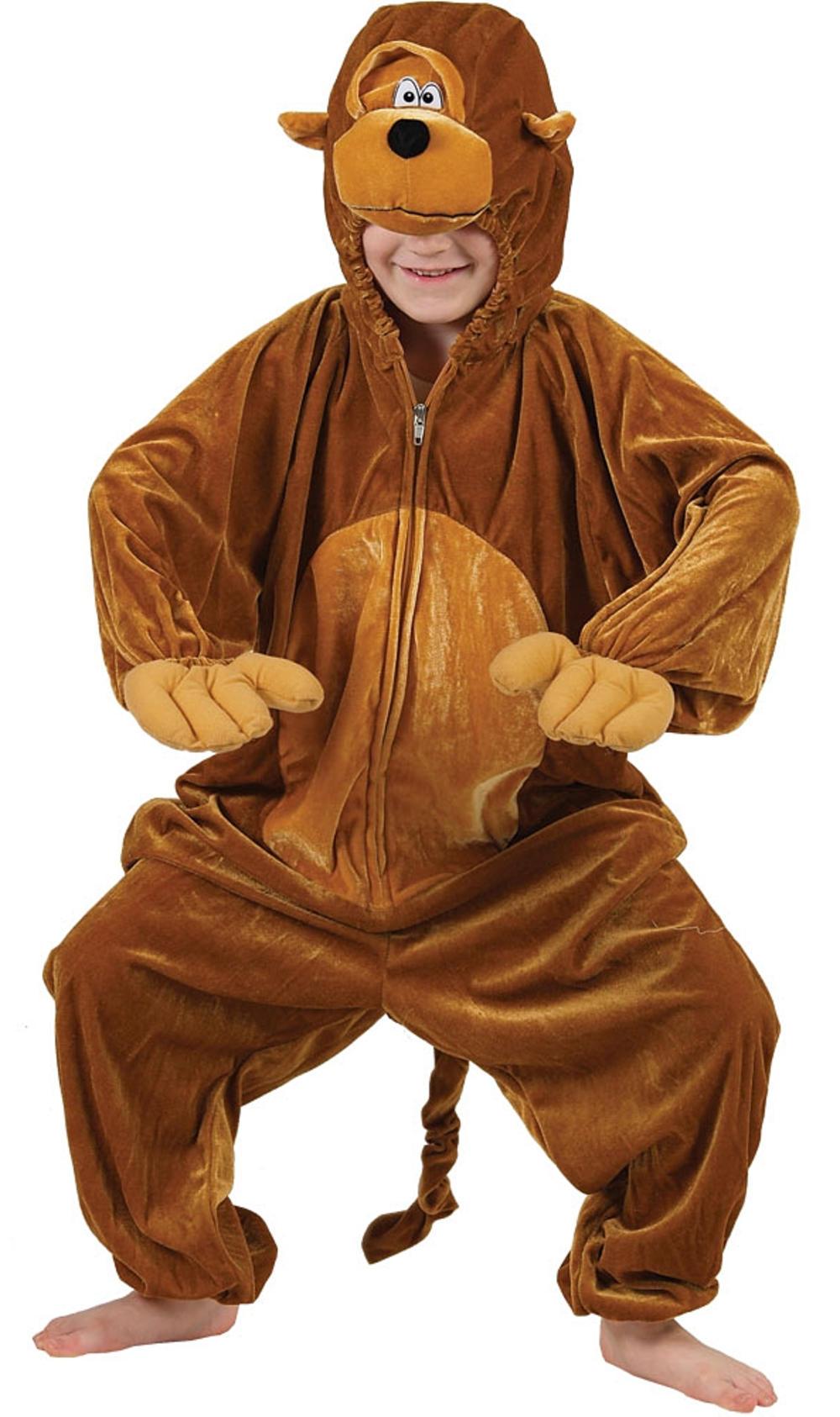 Monkey Kids Zoo Jungle Animal Fancy Dress Child Boys Girls Costume Outfit 3-11