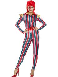 Miss Space Superstar Ladies Fancy Dress 80s Icon Star David Bowie Adults Costume