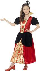 Queen of Hearts Girls Fancy Dress Fairytale Wonderland  Book Day Childs Costume