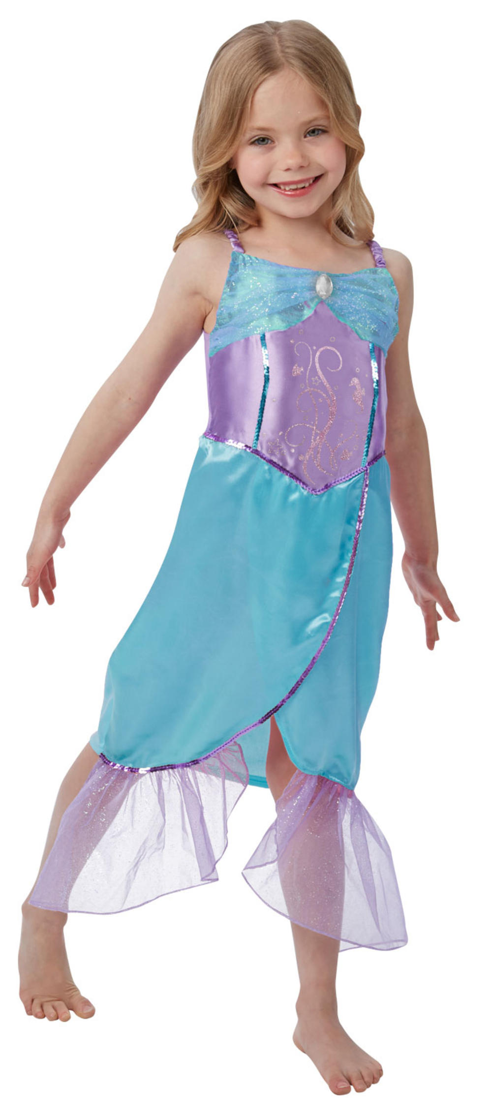Mermaid Girls Fancy Dress Fairy Tale World Book Day Kids Childs Costume Outfit