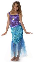 Mermaid Girls Fancy Dress Fairy Tale Sea Princess Book Day Kids Childs Costume
