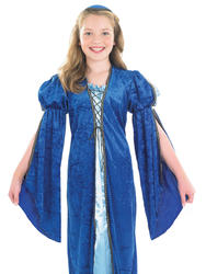 Merchants Daughter Girls Tudor Medieval School Book Week Costume Kids 4-12 Years