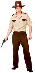 Sheriff Mens Fancy Dress Zombie Hunter Halloween Police Adult Uniform Costume