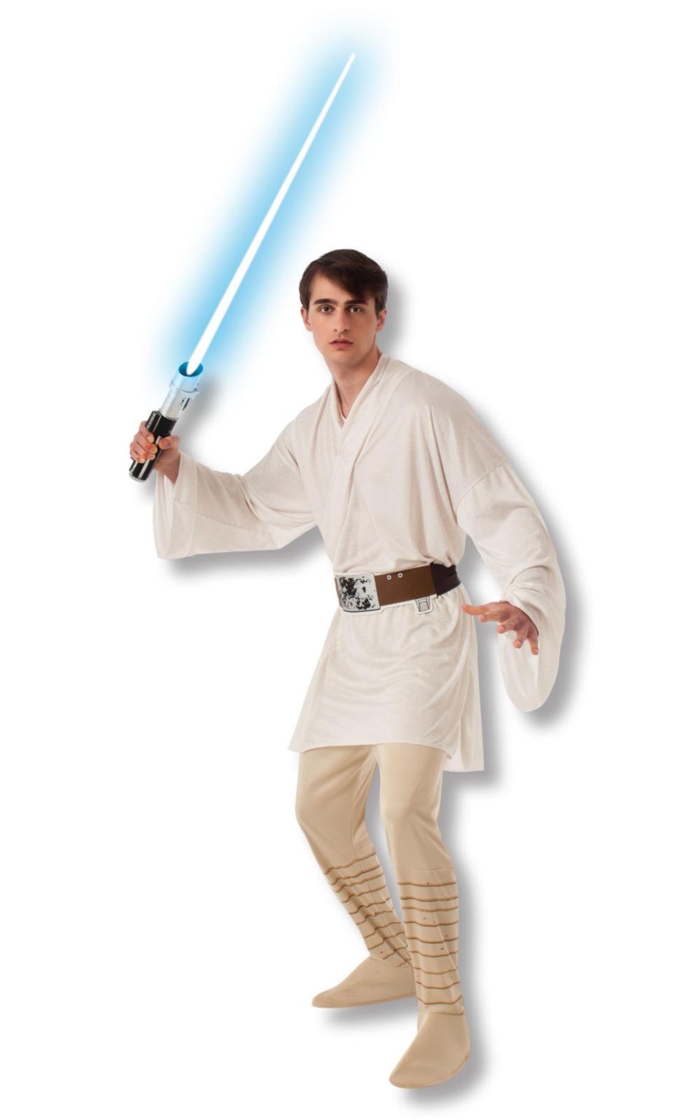 Men's Luke Skywalker Star Wars Movie Film Characters Mens Adults Fancy Dress