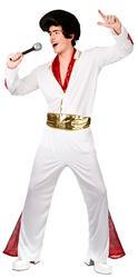 50s Rock n Roll King Mens Fancy Dress 1950s Celebrity Singer Adults Costume