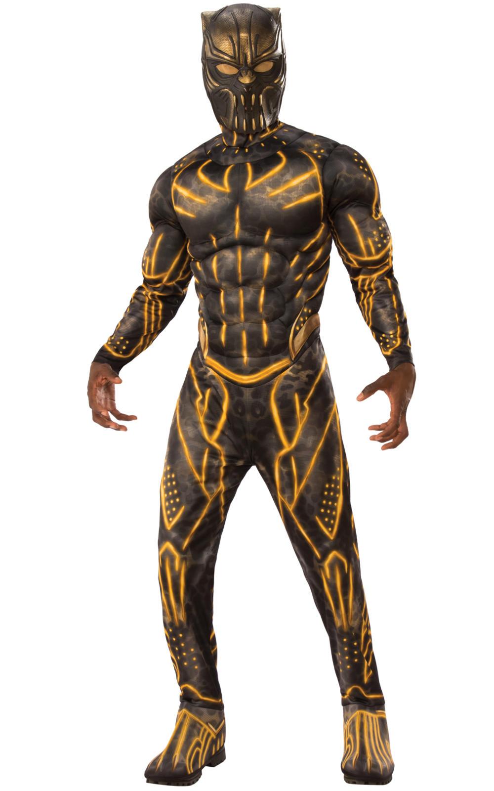 Deluxe Killmonger Mens Fancy Dress Black Panther Villain Suit Adults Costume New