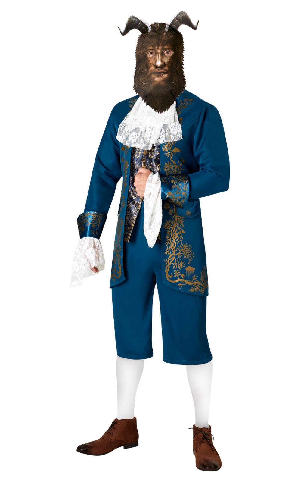 Men's Beast Fancy Dress Beauty and the Beast Disney Adults Prince Costume Outfit