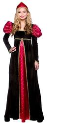 Medieval Queen Ladies Fancy Dress Womens Historical Character Costume Outfit