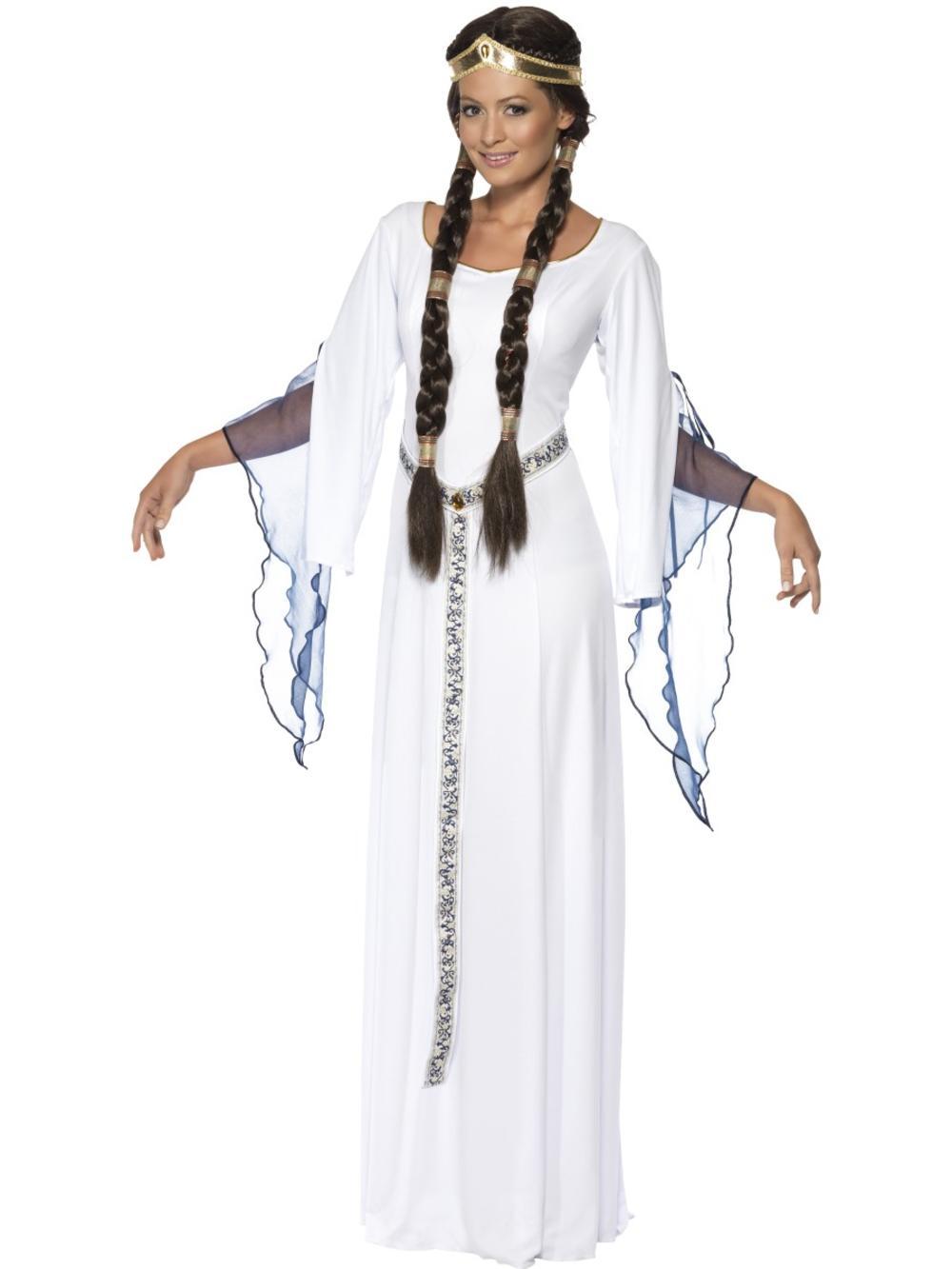 Medieval Maid Ladies Fancy Dress Renaissance Tudor Maiden Womens Adults Costume