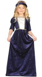 Medieval Lady Girls Fancy Dress Tudor Princess Kids World Book Day Child Costume