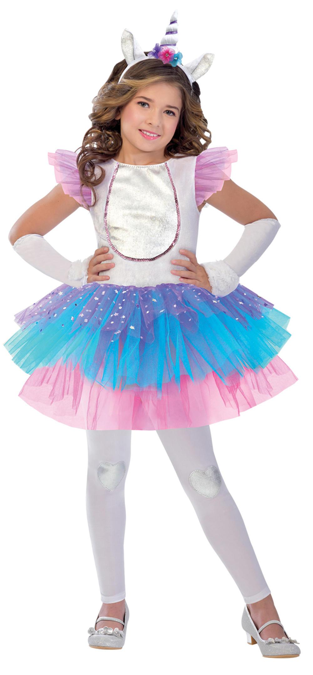 Magical Unicorn Girls Fancy Dress Fairy Tale Book Day Animal Kids Childs Costume