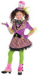 Mad Hatter Girls Fancy Dress Fairy Tale World Bood Day Kids Childrens Costume