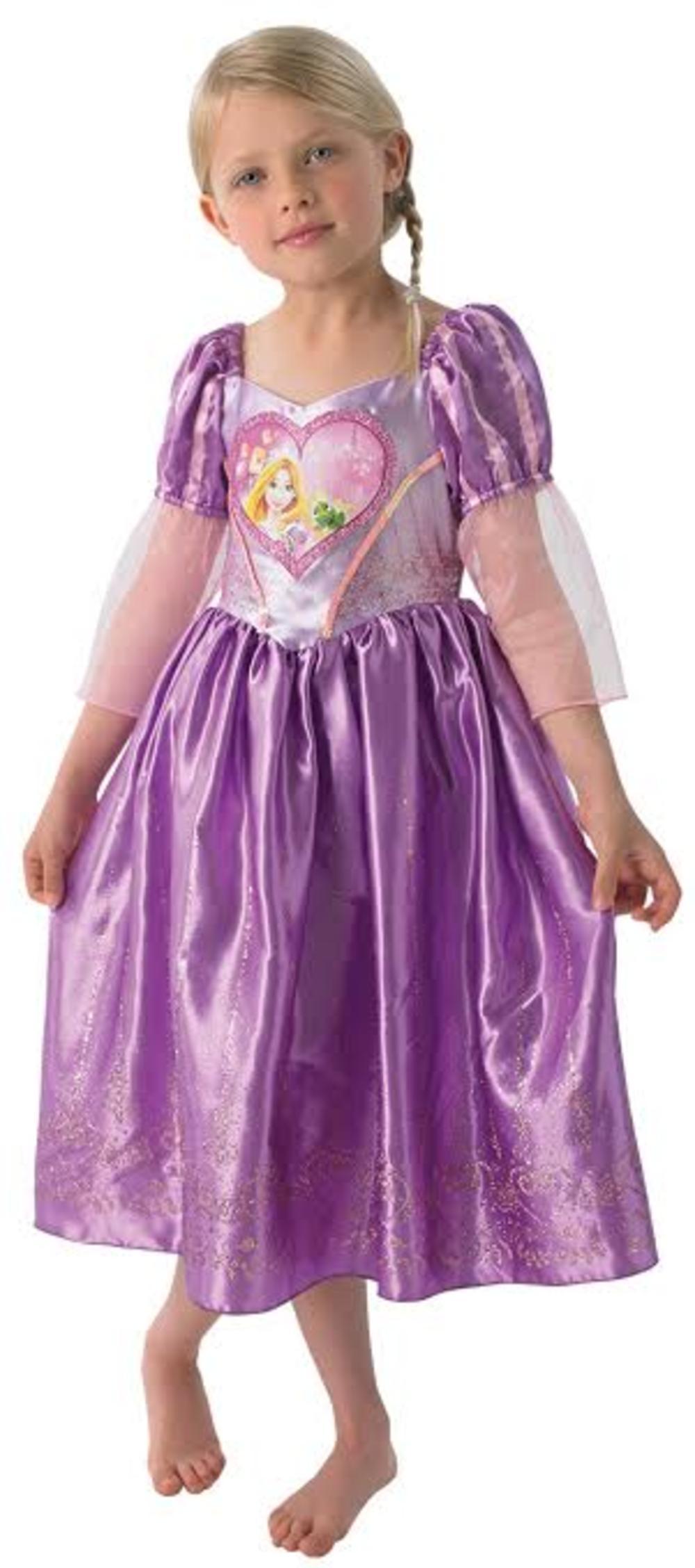 Loveheart Rapunzel Girls Fancy Dress Disney Tangled Fairy Tale Kids Costume
