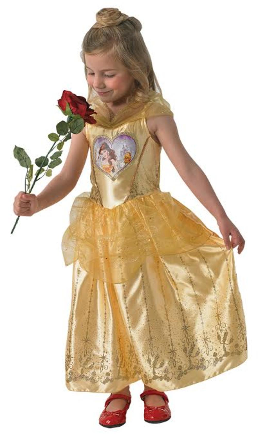 Loveheart Belle Girls Fancy Dress Disney Beauty and the Beast Kids Child Costume
