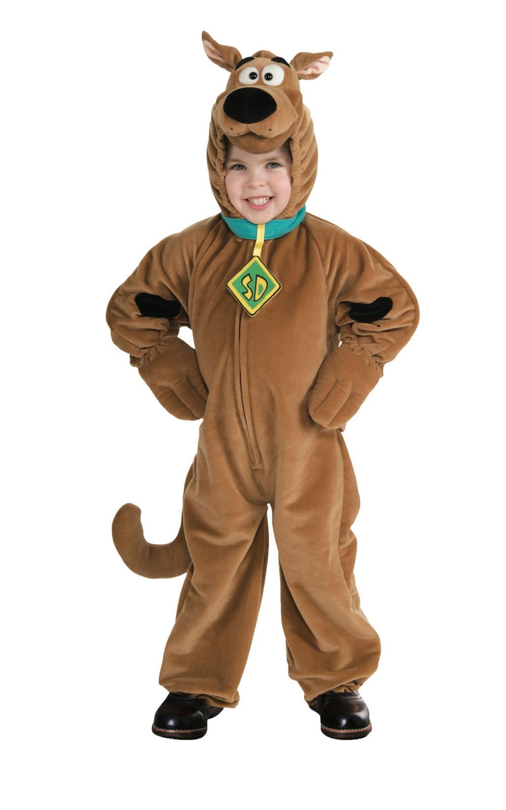 Deluxe Scooby Doo Childs Fancy Dress Boys Kids Cartoon Dog Halloween Costume