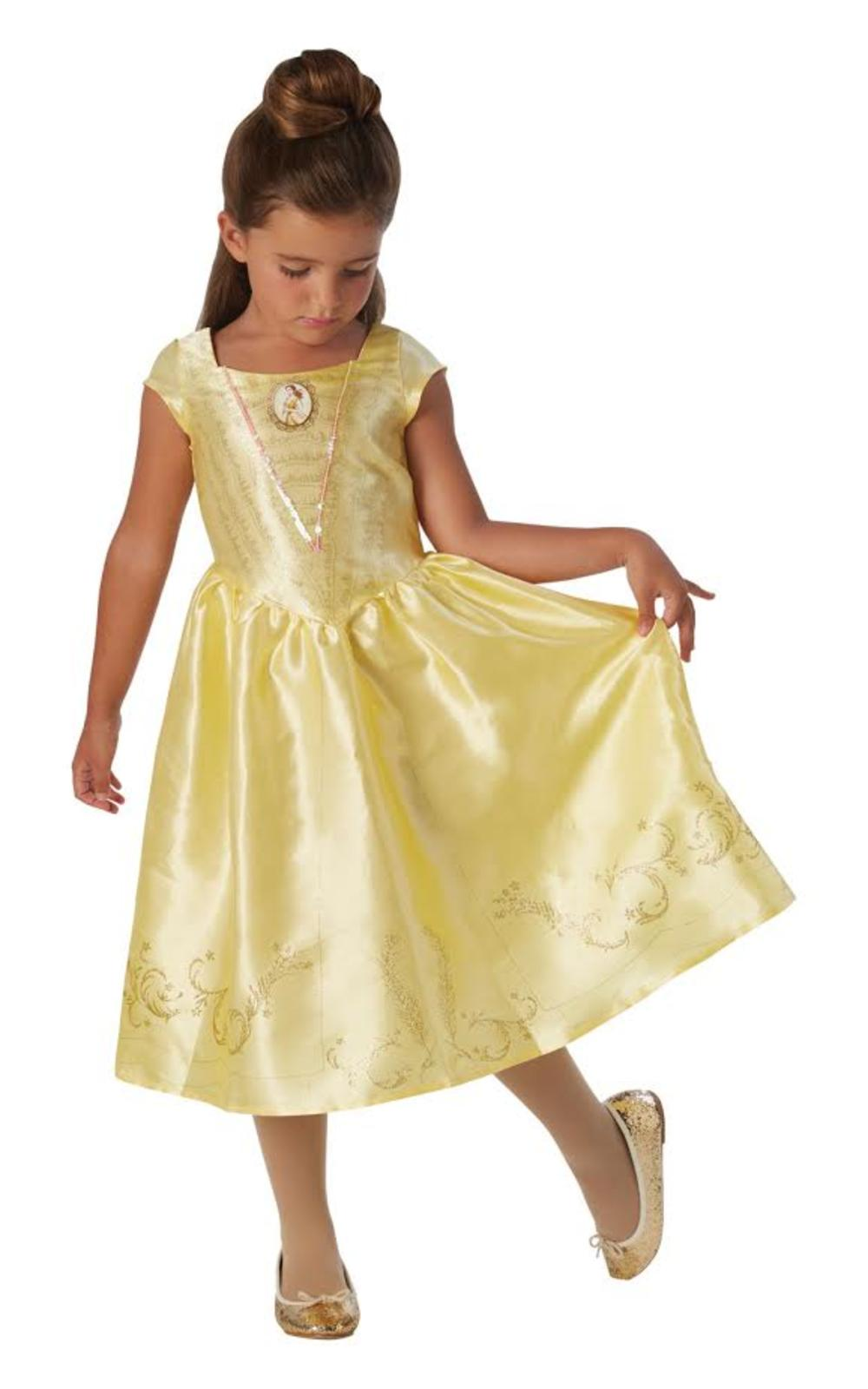 Live Action Belle Girls Fancy Dress Disney Princess Beauty Book Day Kids Costume