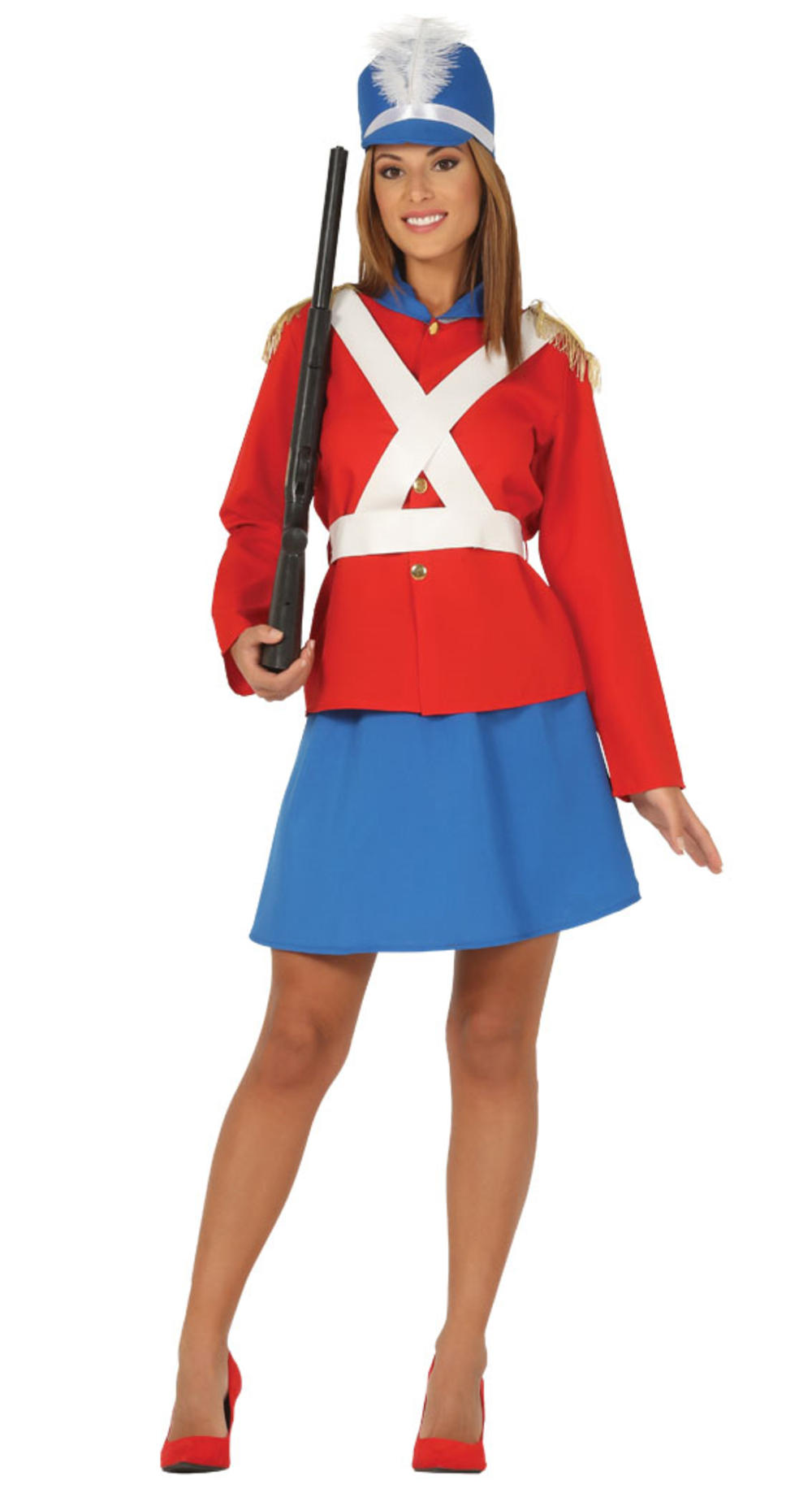 Toy Soldier Ladies Fancy Dress Majorette Nutcracker Adults Womens Costume Outfit