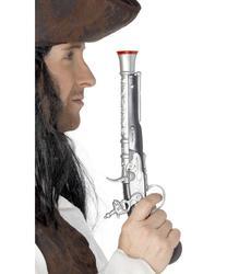 Silver Pirate Pistol Costume Accessory
