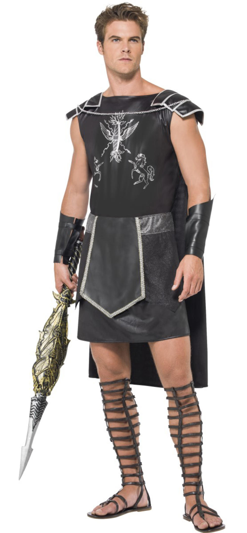 Gladiator Fever Mens Fancy Dress Soldier Centurion Adult Roman Costume Outfit