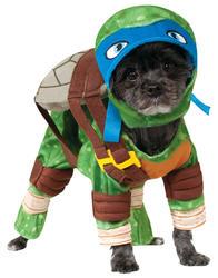 Leonardo Teenage Mutant Ninja Turtles Dog Fancy Dress TMNT Superhero Pet Costume