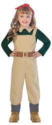 Landgirl Girls Fancy Dress World War II 1930s 40s Book Day Kid Childrens Costume