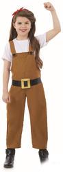 Land Girl Girls Fancy Dress World War II 1930s 40s Book Day Kids Childs Costume