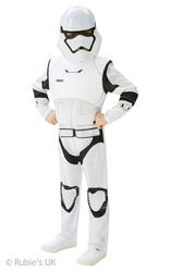 Deluxe Stormtrooper Boys Fancy Dress Star Wars The Force Awakens Kids Costume