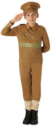 WW1 Soldier Boys Fancy Dress Military Army 1910s Kids Childrens Costume Outfit