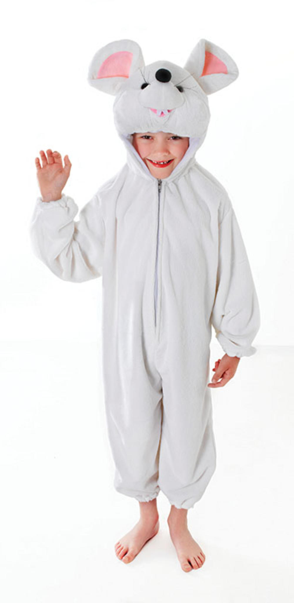 Kids White Mouse Fancy Dress Christmas Nativity Costume Boys Girls Childs Outfit