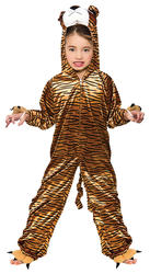 Tiger Kids Fancy Dress Storybook Zoo Animal Boys Girls Book Day Costume Outfit