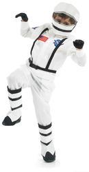 Astronaut Boys Fancy Dress Rocket Space Suit Uniform Spaceman Kids Child Costume