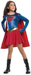 Supergirl Girls Superhero Fancy Dress Comic Book Day Childrens Kids Costume New