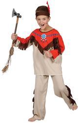 Native Indian Boys Cowboys & Indians Fancy Dress Up Kids Costume Child Ages 3-10