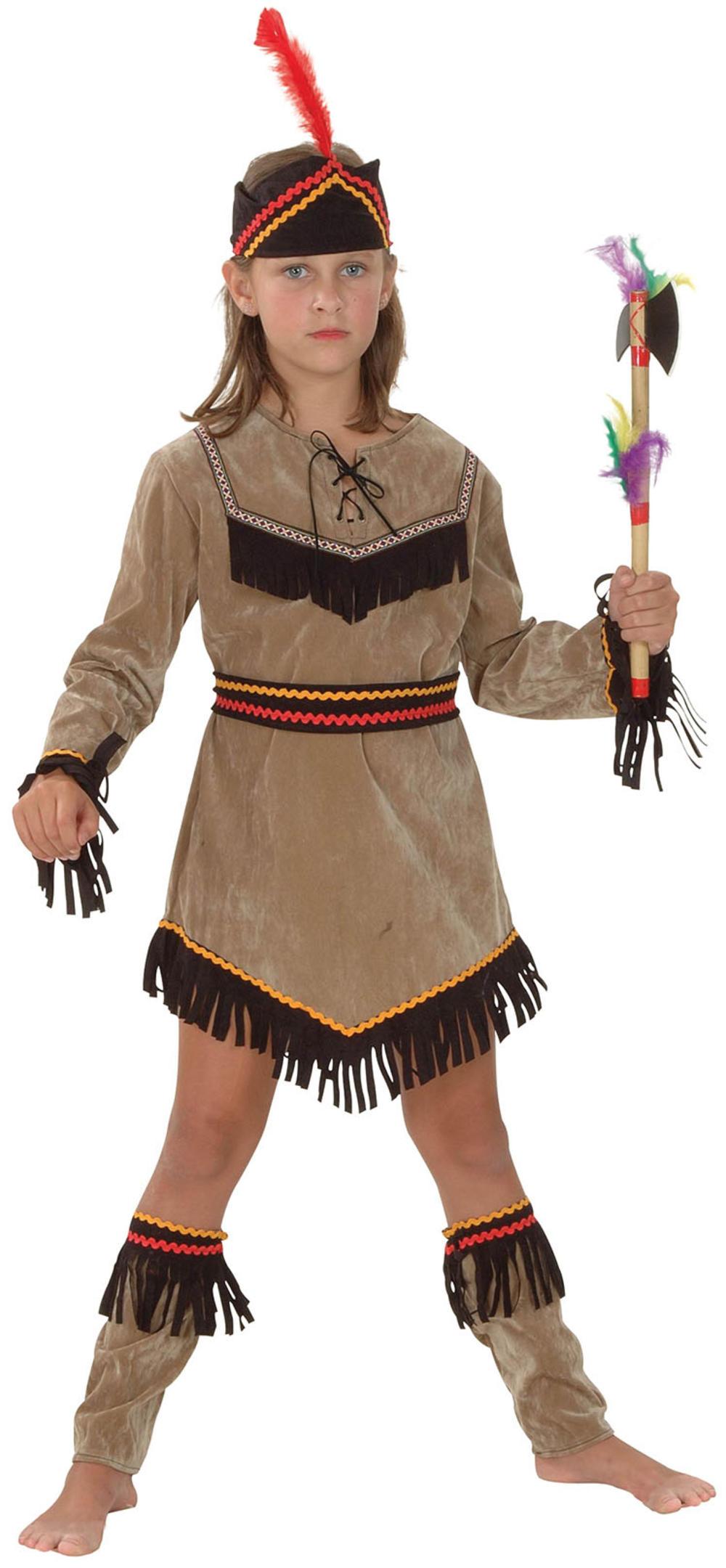 Deluxe Indian Girl Kids Fancy Dress Girls Pocahontas Western Childrens Costume