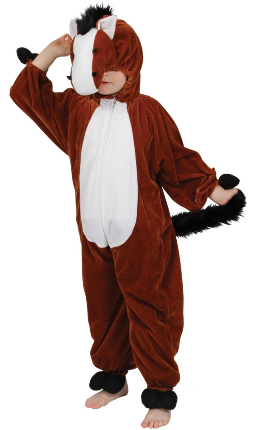 Horse Kids Fancy Dress Farm Animal Pony Boys Girls World Book Day Costume Outfit