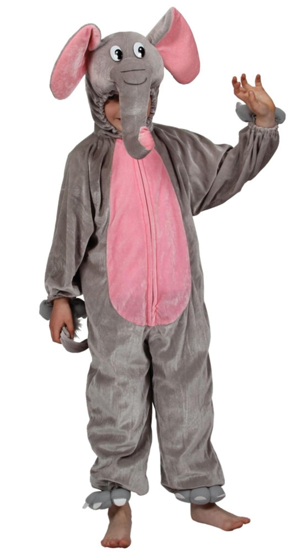 Elephant Kids Zoo Jungle Animal Fancy Dress Child Boys Girls Costume Kids 3-11