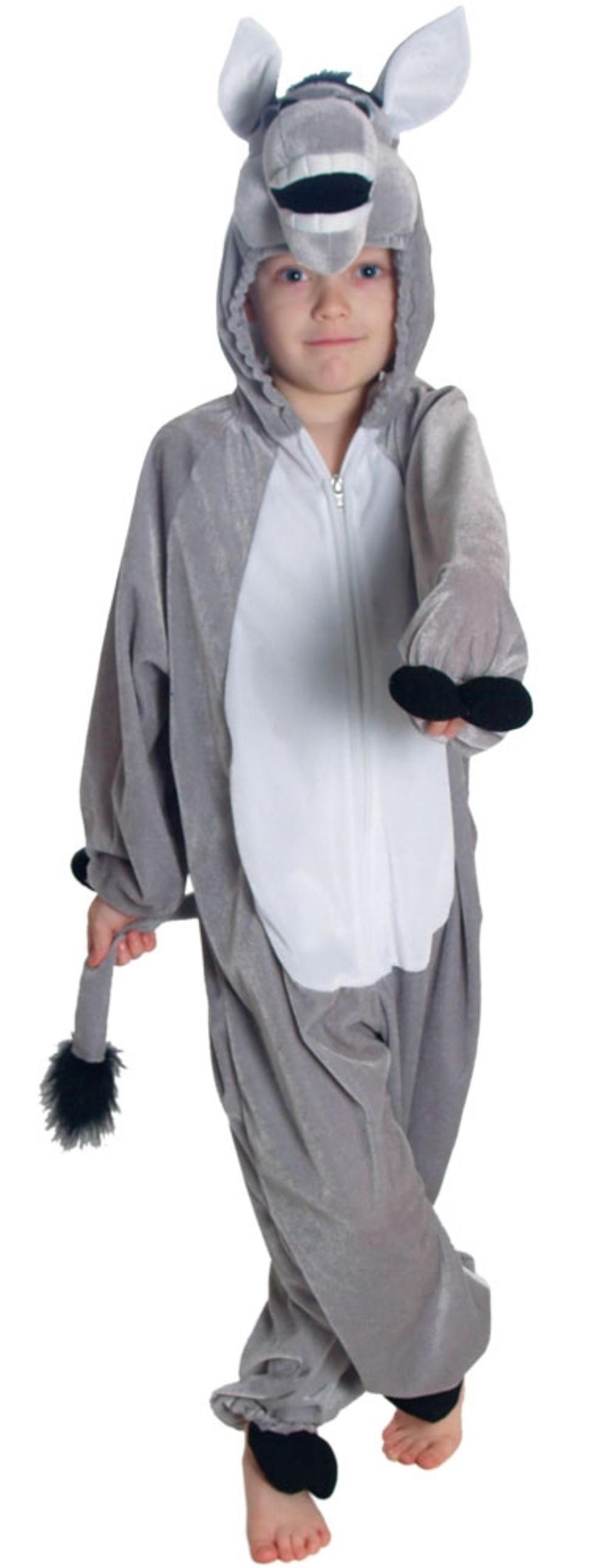 Grey Donkey Kids Boys Girls Fancy Dress Christmas Animal Nativity Childs Costume